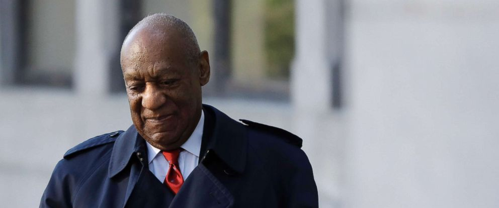 PHOTO: Bill Cosby arrives for his sexual assault trial, Thursday, April 26, 2018, at the Montgomery County Courthouse in Norristown, Pa.