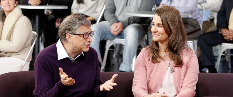 "PHOTO: Bill and Melinda Gates appear on ""Good Morning America"" on the ABC television network, Feb. 13, 2018."