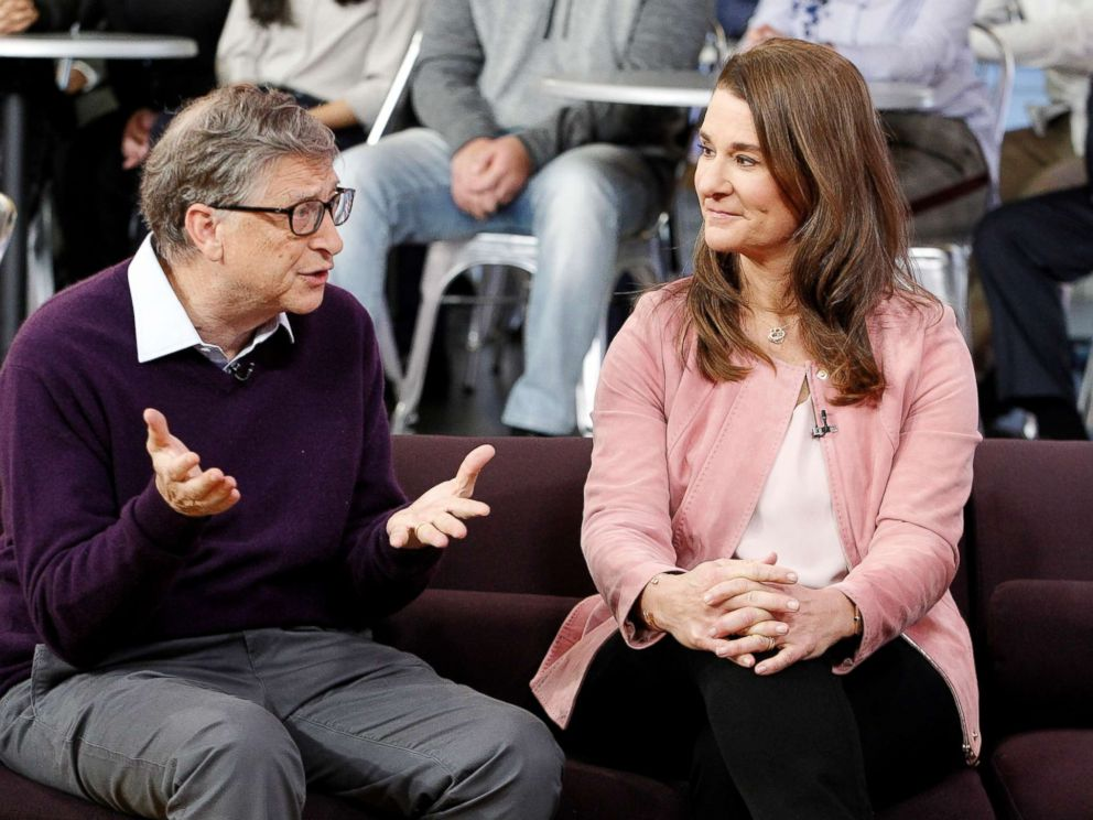 PHOTO: Bill and Melinda Gates appear on Good Morning America on the ABC television network, Feb. 13, 2018.