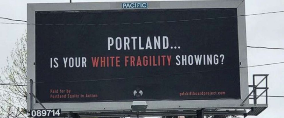 PHOTO: A billboard paid for by the PDX Billboard Project in Portland, Ore.