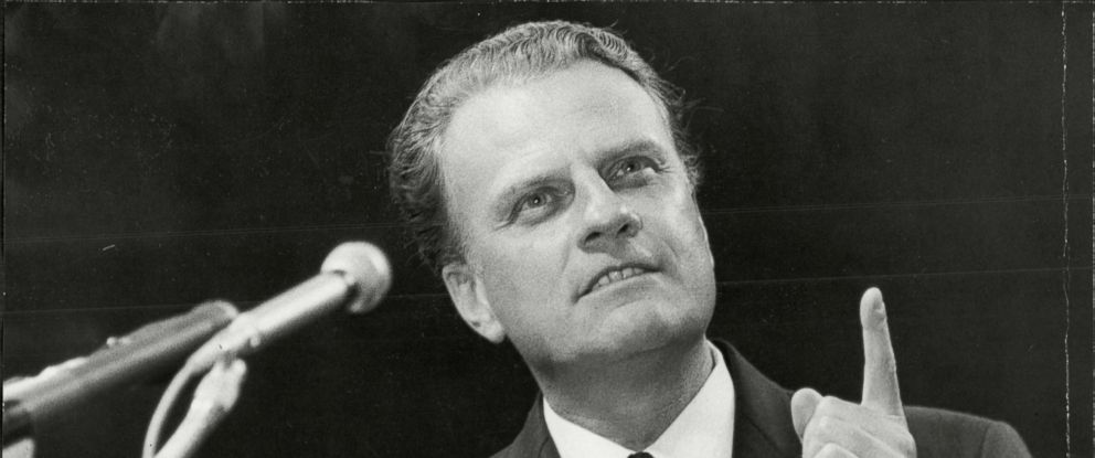 PHOTO: Billy Graham speaks, circa. 1966.