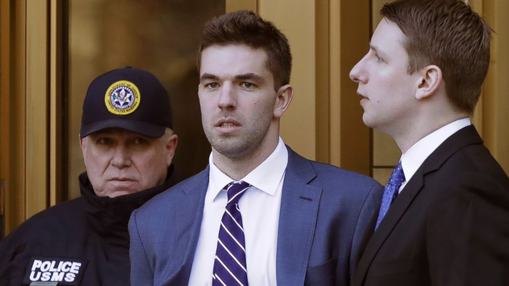 Billy McFarland, the promoter of the failed Fyre Festival in the Bahamas, leaves federal court after pleading guilty to wire fraud charges, Tuesday, March 6, 2018, in New York.
