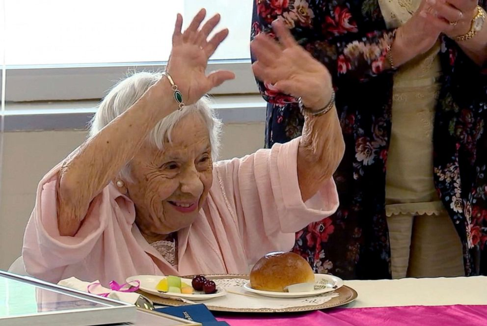 PHOTO: Louise Jean Signore celebrates her 107 birthday in the Bronx.
