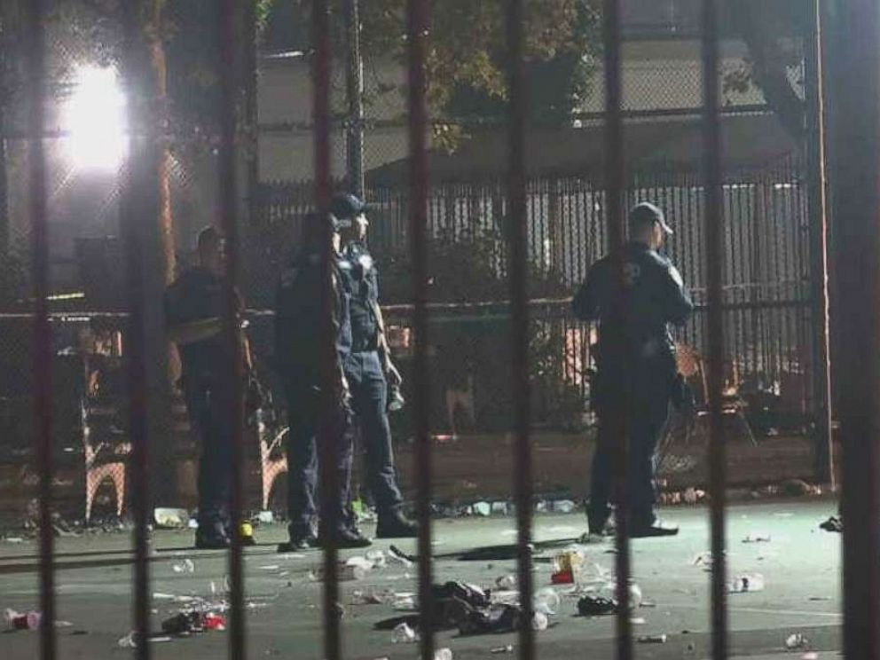 PHOTO: A shooting at a neighborhood event in the Brownsville section of Brooklyn, N.Y., ended in chaos when 12 people were shot and one person died on Saturday, July 27, 2019.