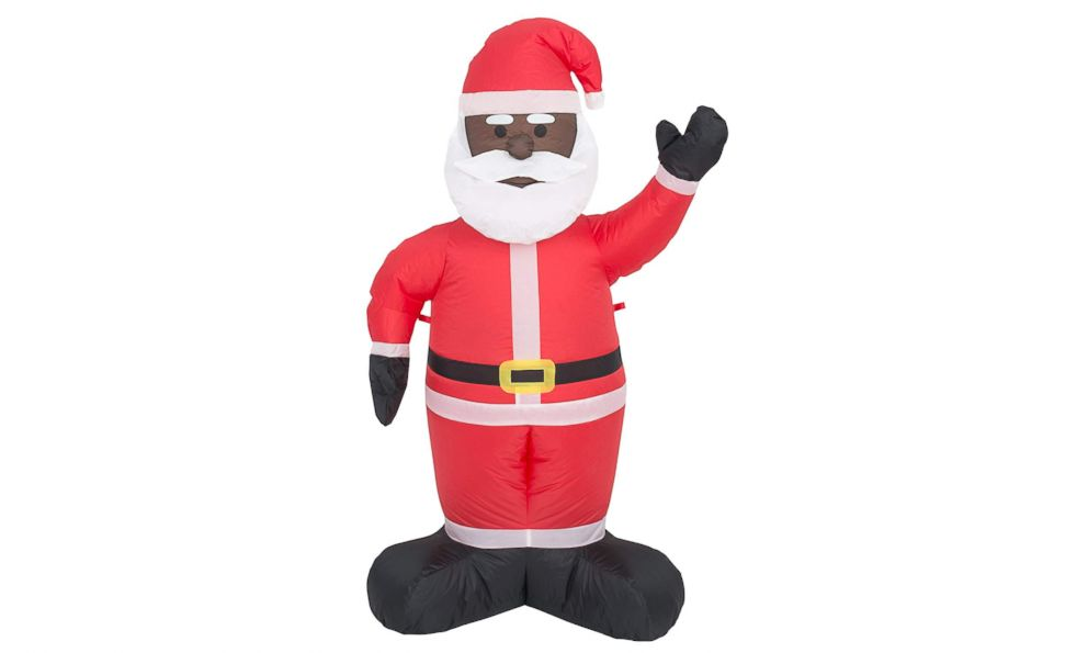 PHOTO: The Costume Agent Inflatable Airblown Indoor and Outdoor Christmas Decoration Black Santa is pictured in a promotional image from Amazon.com.