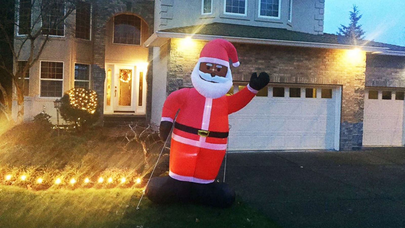 Man Caught On Camera Trying To Steal Christmas Inflatables