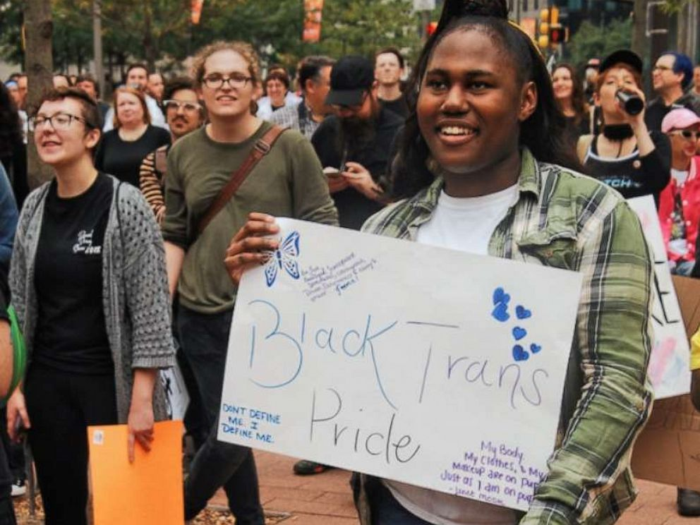 PHOTO: Philadelphias Transgender community rallied in Love Park in Center City Philadelphia before marching through downtown to demand basic human and civil rights on Oct. 6, 2018.