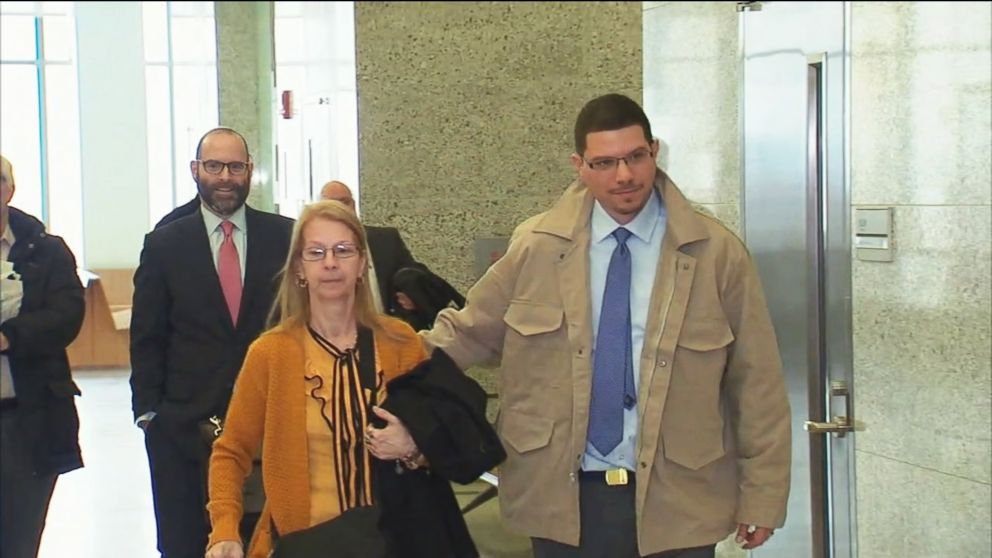PHOTO: Bladimil Arroyo leaves Brooklyn Supreme Court accompanied by his mother after he was released from prison on Feb. 22, 2019, in New York.
