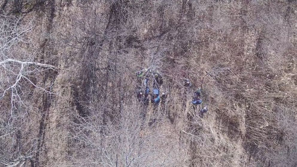 Police find missing blind man using drone