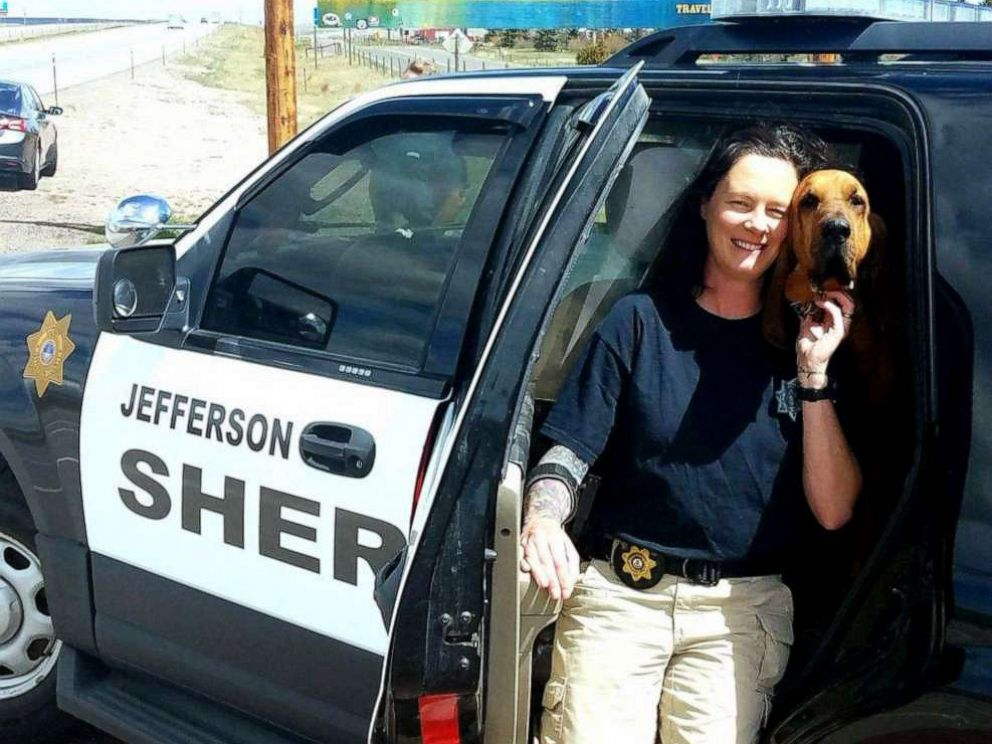 PHOTO: A bloodhound and handler from Colorado rescued a 12-year-old girl missing in Wyoming.