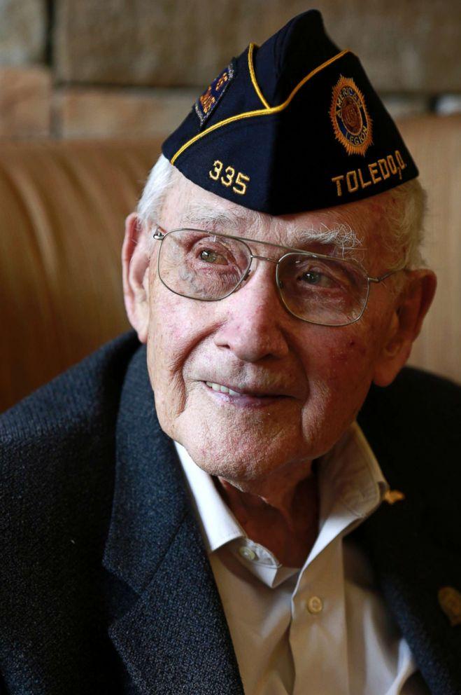 World War II veteran Bob Barger is pictured on April 25, 2018, in Toledo, Ohio.