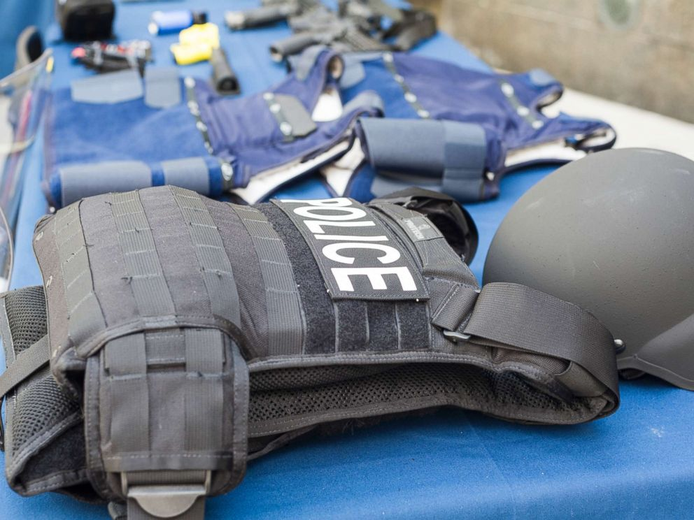 Frances M. Roberts  NewscomPolice body armor is on display