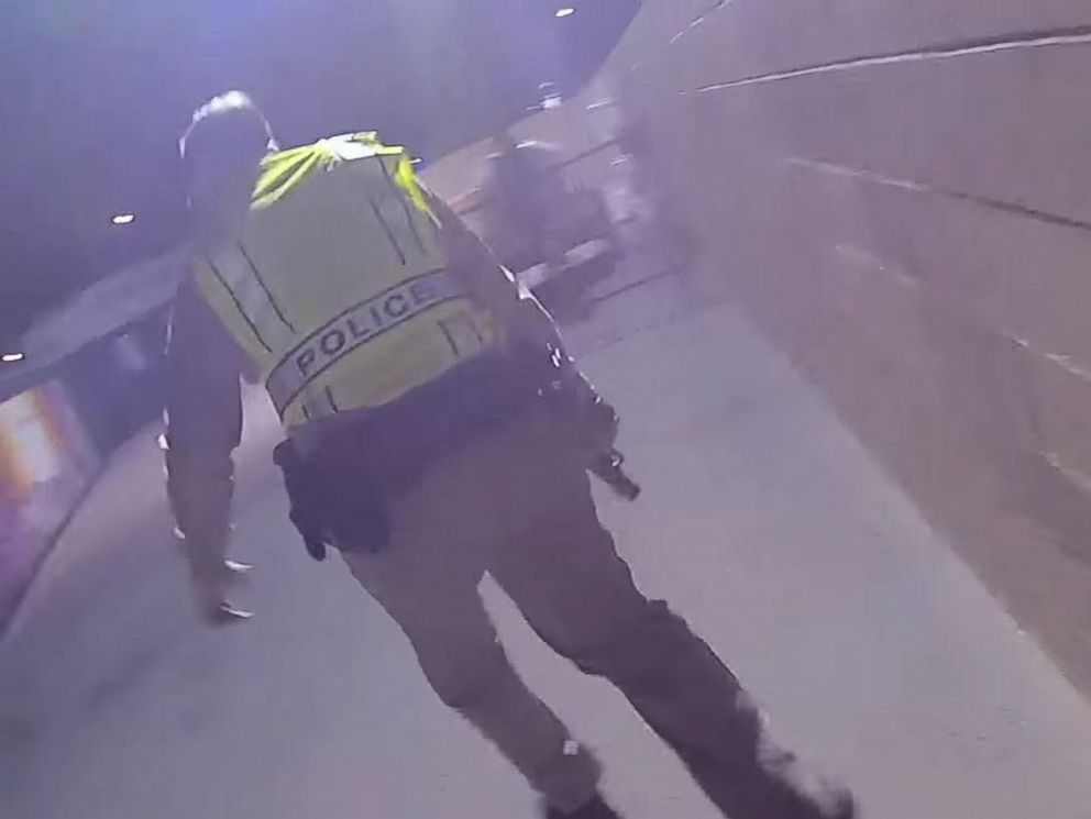 PHOTO: Police in Las Vegas on Oct. 3, 2017 released police body camera footage showing the chaos amidst the Las Vegas mass shooting on Oct. 1, 2017.
