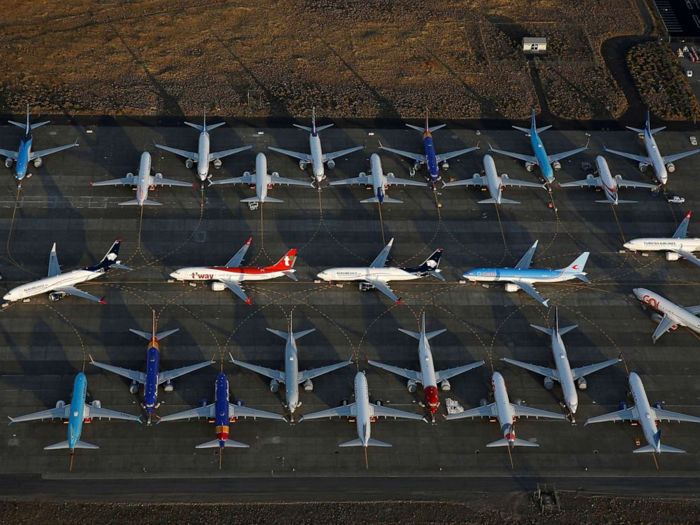 PHOTO: Boeing 737 MAX aircraft at Boeing facilities at the Grant County International Airport in Moses Lake, Washington, Sept. 16, 2019.