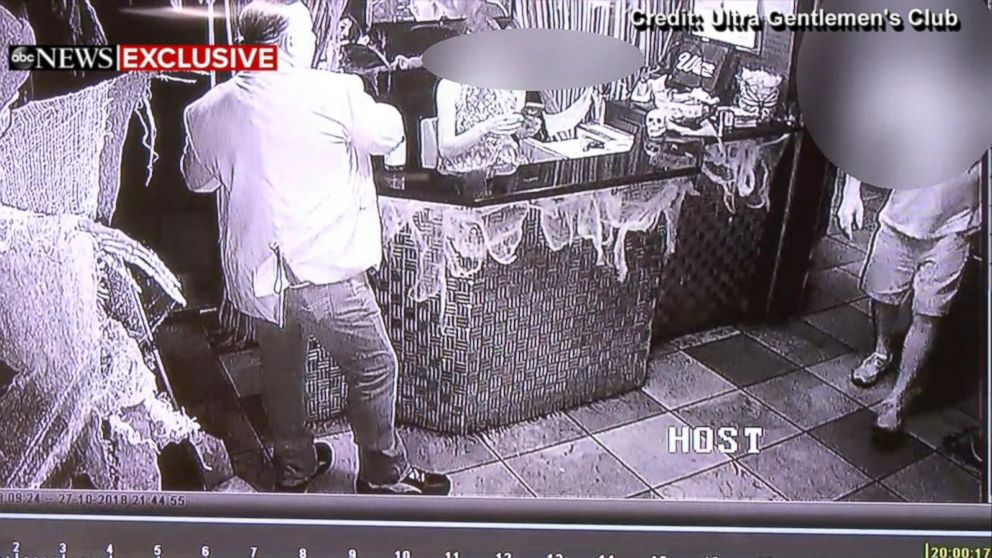 Mail bombing suspect Cesar Sayoc at the club where he filled in as a DJ the day before he was arrested.