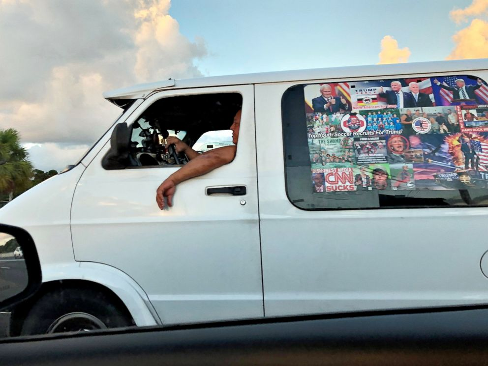 PHOTO: Mail bombing suspect Cesar Sayocs van is seen in Boca Raton, Fla. on Oct. 18, 2018 in this picture obtained from social media.