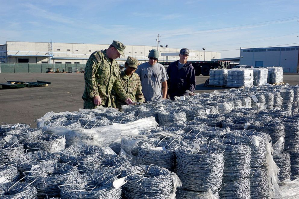 PHOTO: The military and civilian team at DLA Distribution San Joaquin is performing a visual of the outgoing shipment.
