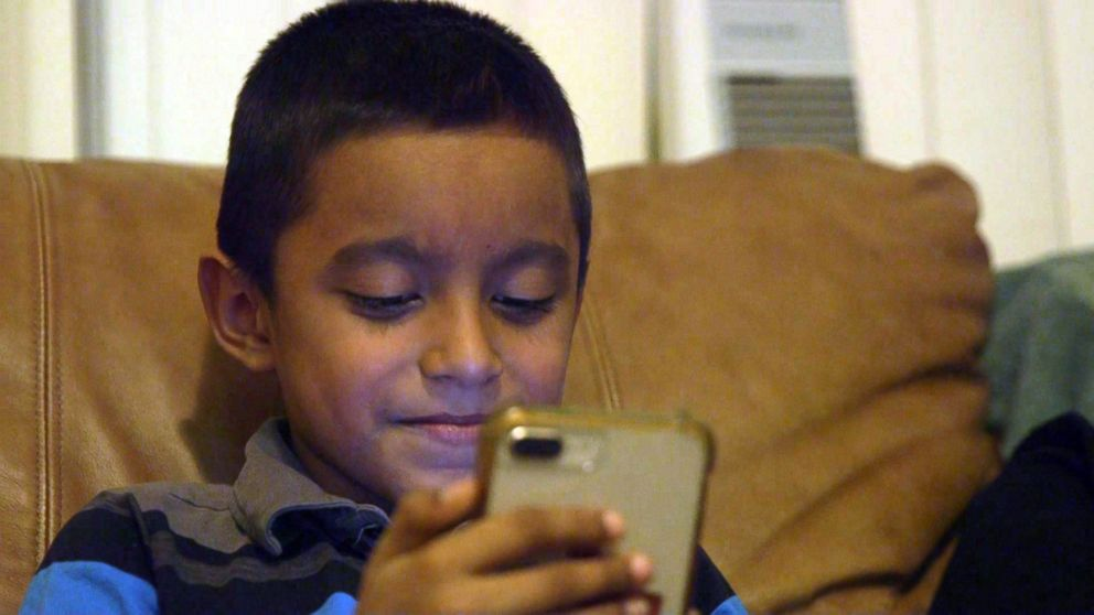 Ariel, age 6, separated from his father at the Southern border last spring, is living in Washington, D.C., with sponsors and Facetimes with his parents. March 3, 2019.