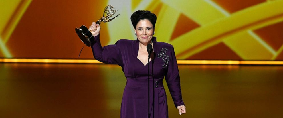 PHOTO: Alex Borstein accepts the Outstanding Supporting Actress in a Comedy Series award for The Marvelous Mrs. Maisel onstage during the 71st Emmy Awards at Microsoft Theater on September 22, 2019 in Los Angeles, California.