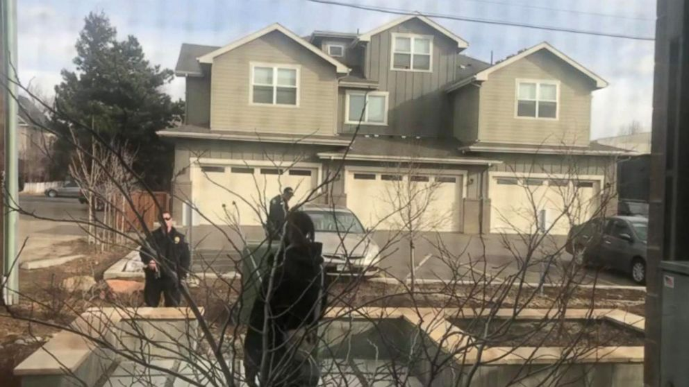 Cell phone video shows police, some with guns drawn, confronting a black man in Boulder, Colorado, on March 1, 2019, who claimed he was just picking up trash on his own property with a metal trash grabber.