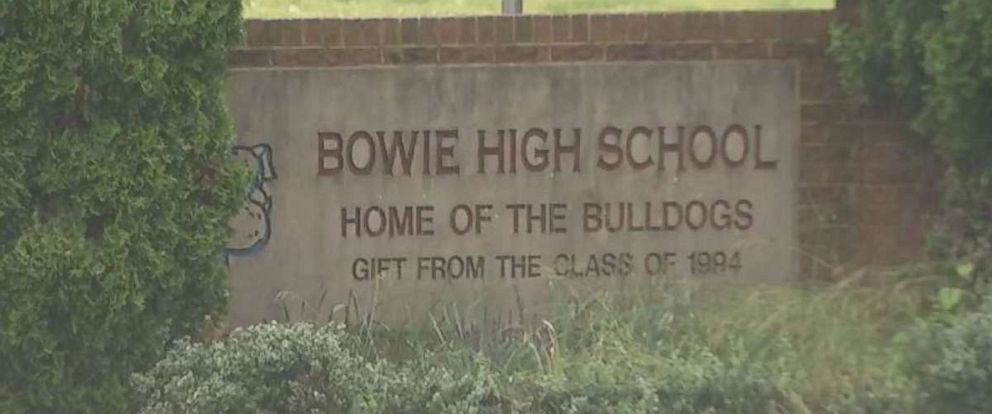Seniors at Bowie High School in Maryland created chaos when they swarmed the school with water guns and fireworks as part of a senior prank, Tuesday, May 15, 2018.