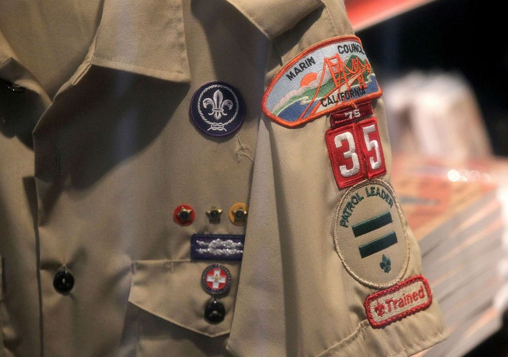PHOTO: A Boy Scout uniform hangs in a store, July 27, 2015, in San Rafael, Calif.