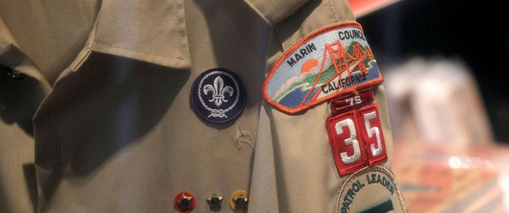 PHOTO: A Boy Scout uniform hangs in a store, July 27, 2015, in San Rafael, Calif.