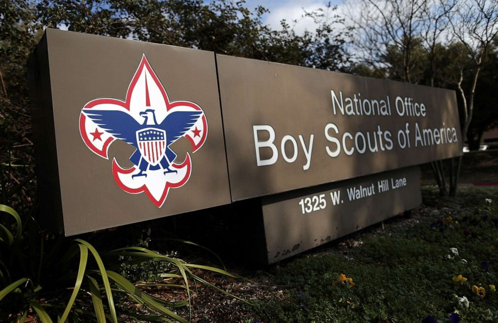 PHOTO: A sign for the National Office outside the Boy Scouts of America Headquarters, Feb. 4, 2013, in Irving, Texas.