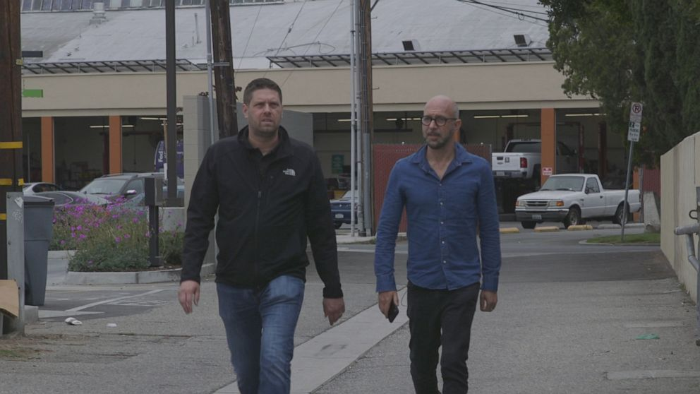 """PHOTO: Private investigator Jayden Brant (left) teamed up with """"Rolling Stones"""" reporter Neil Strauss to investigate what happened to Adea Shabani."""