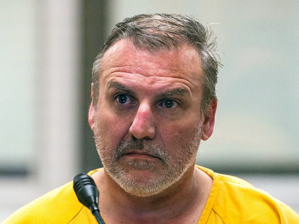PHOTO: Brian Steven Smith is arraigned, Oct. 9, 2019, on a charge of first-degree murder at the Anchorage Jail courtroom in Anchorage, Alaska.