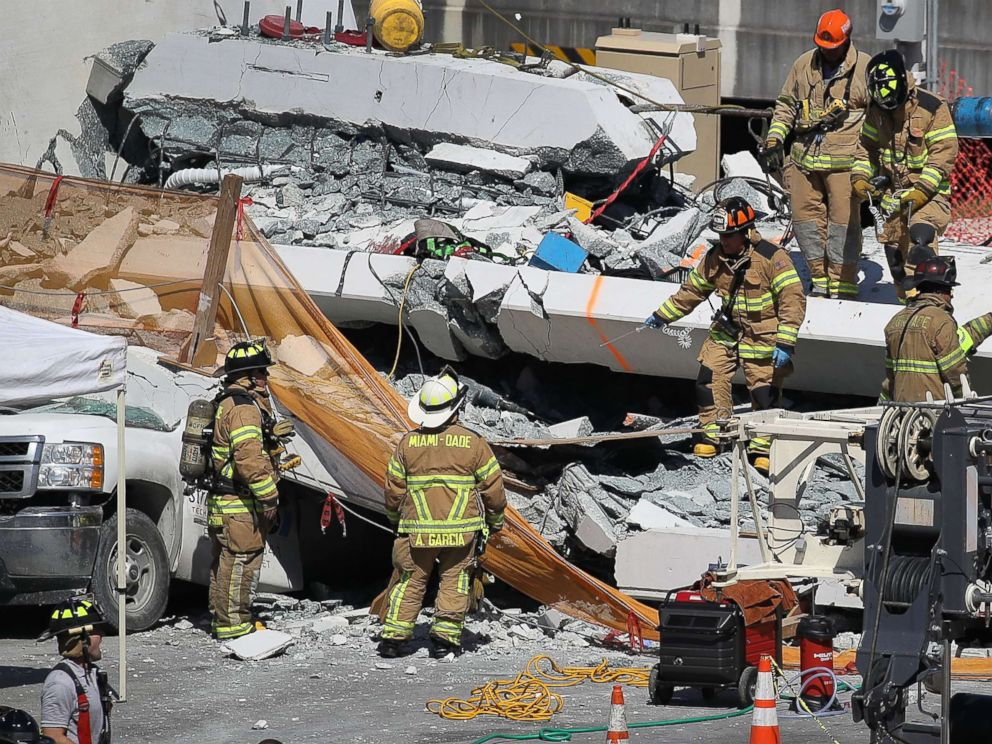 FIU bridge collapse: At least 4 killed after pedestrian ... on irsc campus map, florida international university campus map, florida a&m campus map, nevada campus map, broward college campus map, uf campus map, hawaii campus map, unf campus map, army campus map, fsu campus map, ole miss campus map, usc campus map, charlotte campus map, clemson campus map, university of florida campus map, barry campus map, miami campus map, eastern florida state college campus map, jacksonville state campus map, usf campus map,