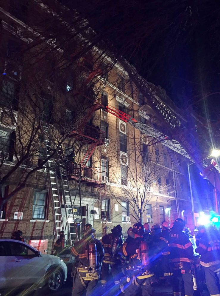 PHOTO: At least 15 people were seriously injured in a massive fire in the Belmont section of Bronx, New York, according to the FDNY.
