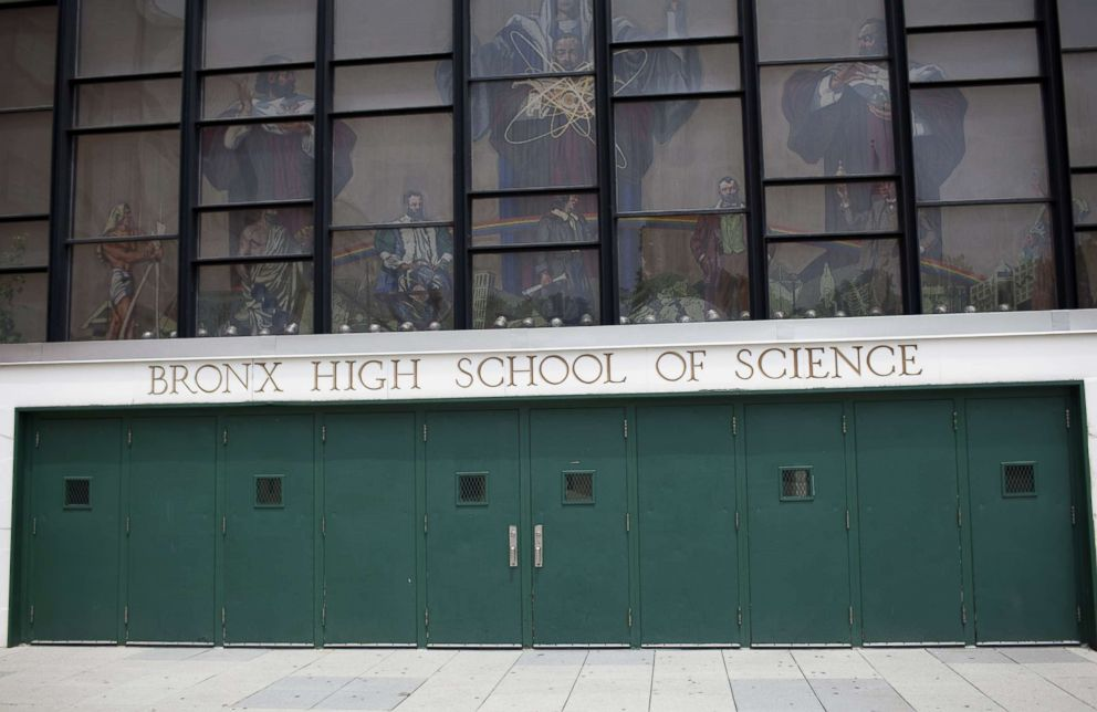 PHOTO: The entrance to the Bronx High School of Science, June 14, 2010, in the Bronx, New York.