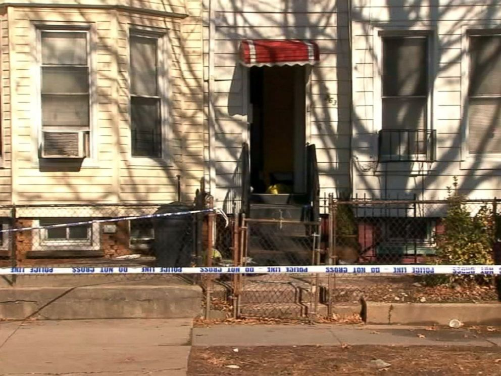 PHOTO: Police tape marks off the scene of a double murder in the Brooklyn borough of New York, Feb. 8, 2018.