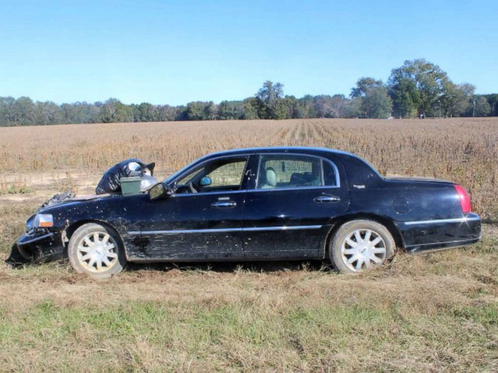 PHOTO: A 2008 black Lincoln Town Car was found in Clarendon County, South Carolina, inside an abandoned trailer believed to have been towed by an RV belonging to U.S. Marine Corps serivceman Michael Alexander Brown.