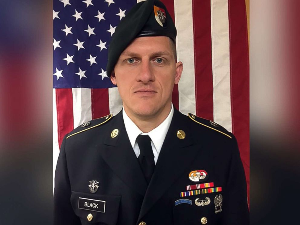 PHOTO: Staff Sgt. Bryan C. Black, 35, of Puyallup, Wa. is pictured in an undated handout image released by the US Army on Oct. 6, 2017.