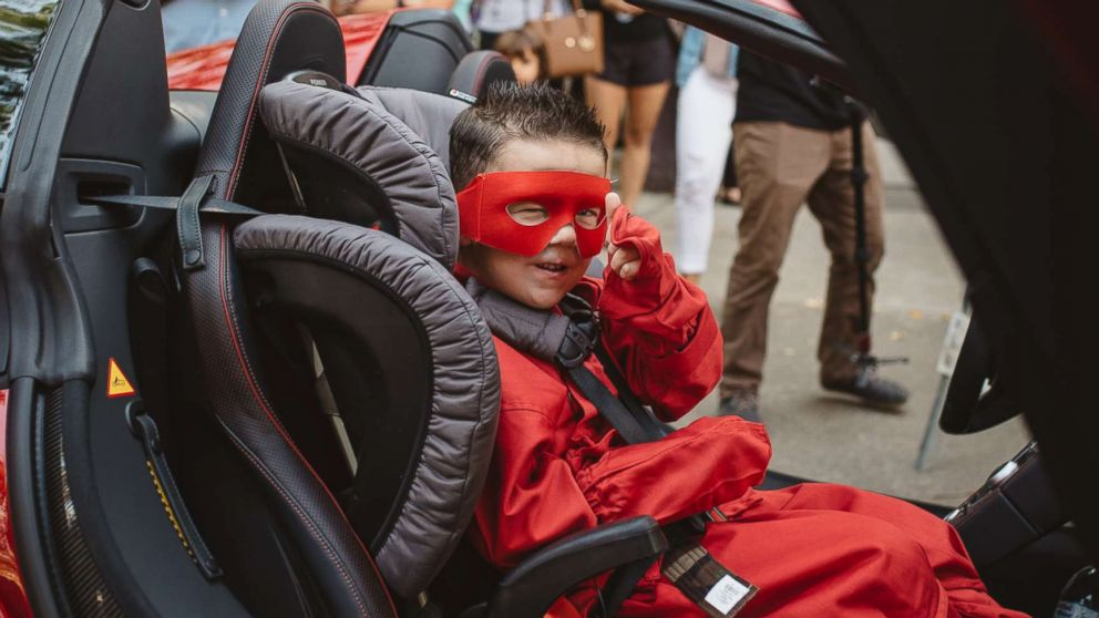 The Make-A-Wish Foundation helped Bryant Mordinoia go through ninja training before taking to the streets.