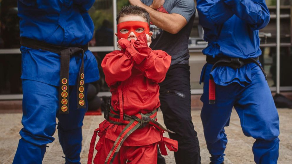Bryant Mordinoia, 5, is battling a heart condition and wished for one thing: to be a ninja.