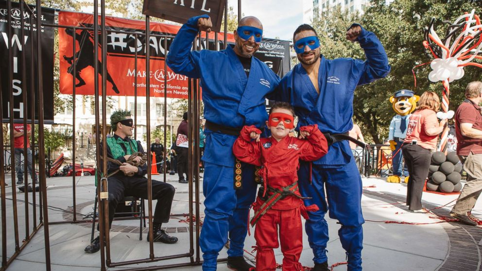 The Make-A-Wish Foundation of Northeastern California and Northern Nevada granted the wish of 5-year-old Bryant Mordinoia, who wanted to become a ninja for a day.