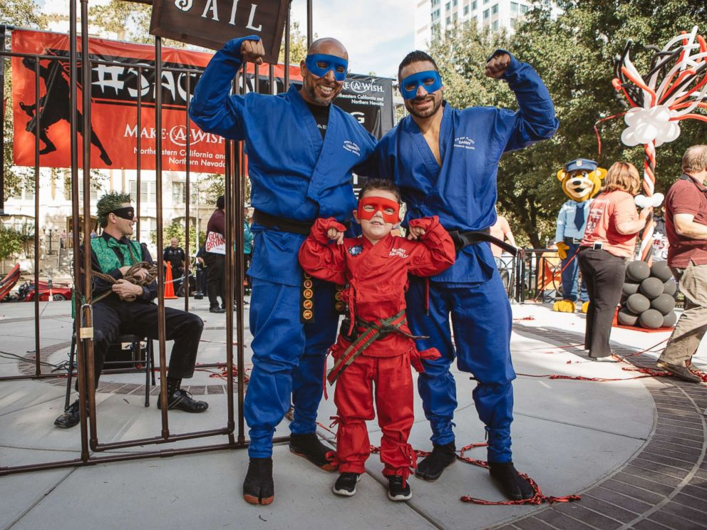 PHOTO: The Make-A-Wish Foundation of Northeastern California and Northern Nevada granted the wish of 5-year-old Bryant Mordinoia, who wanted to become a ninja for a day.