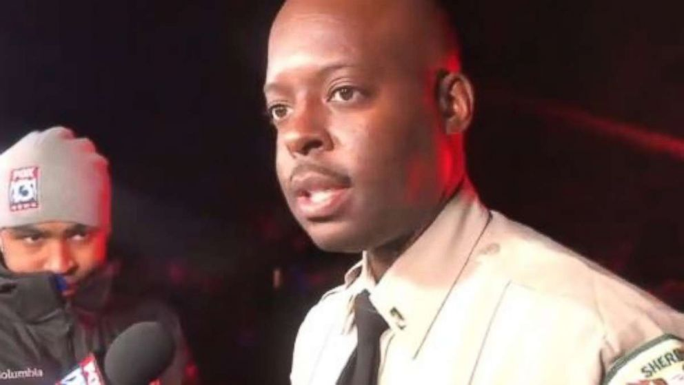PHOTO: Lt. Anthony Buckner, Shelby County Sheriff's Office, updated the media on a shooting in which two people were killed and four injured in Memphis, Tenn., on Saturday, Nov. 10, 2018.