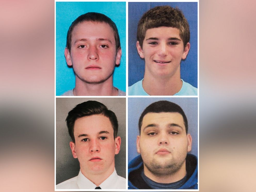 PHOTO: Bucks County District Attorneys Office photos show L-R, top row: Dean Finocchiaro, 18, Tom Meo, 21, Jimi Patrick, 19 and Mark Sturgis, 22, four men who went missing on a sprawling farm in Bucks County, about 40 miles north of Philadelphia.
