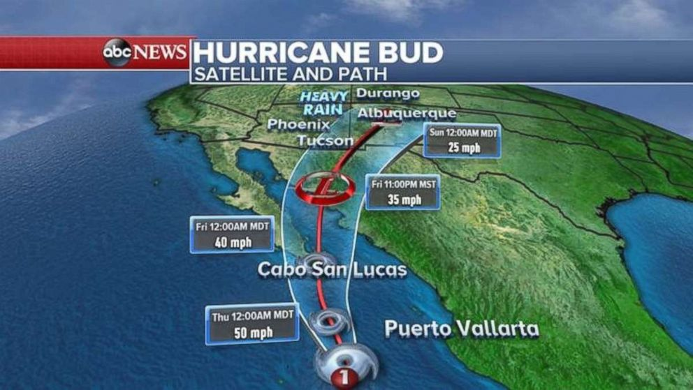 Buds track will take it into rain-parched areas hit with wildfires over the weekend.