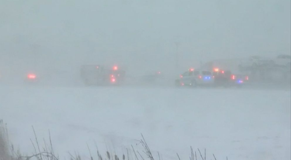 1 dead, 1 seriously injured in multi-car pileup in Buffalo