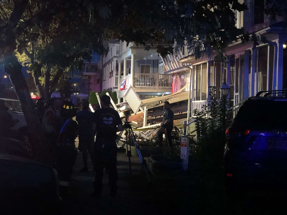 At least 22 injured after three-story deck collapses in New Jersey