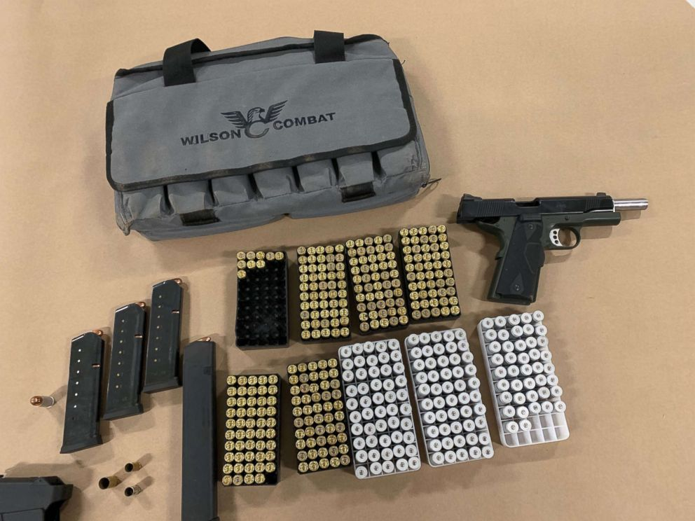 PHOTO: A man allegedly built an arsenal at a Southern California park, where he had a loaded gun, a vest and over a dozen magazines hidden in a storage room.