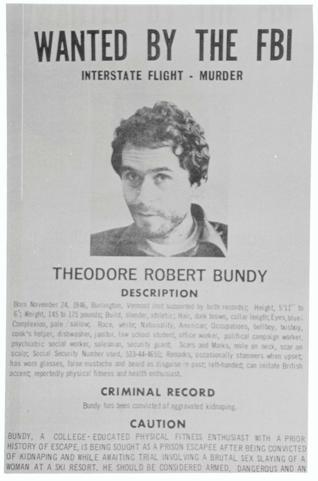 PHOTO: A FBI wanted sign of Ted Bundy.