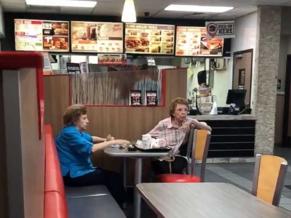 PHOTO: Two women were filmed telling a Burger King employee This is America and our main language is English? Go speak your Mexican at home!