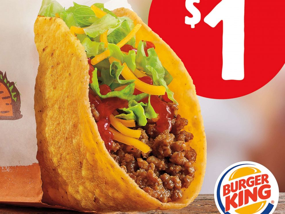 PHOTO: Burger King adds $1 tacos to its menu for a limited time.