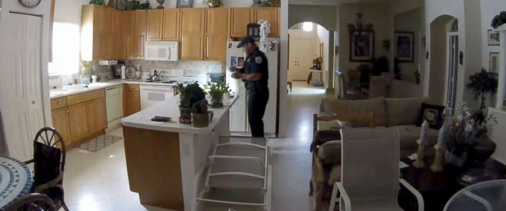 PHOTO: A police officer in Palm Beach County, Florida, is facing multiple charges after he allegedly broke into a home while on duty.